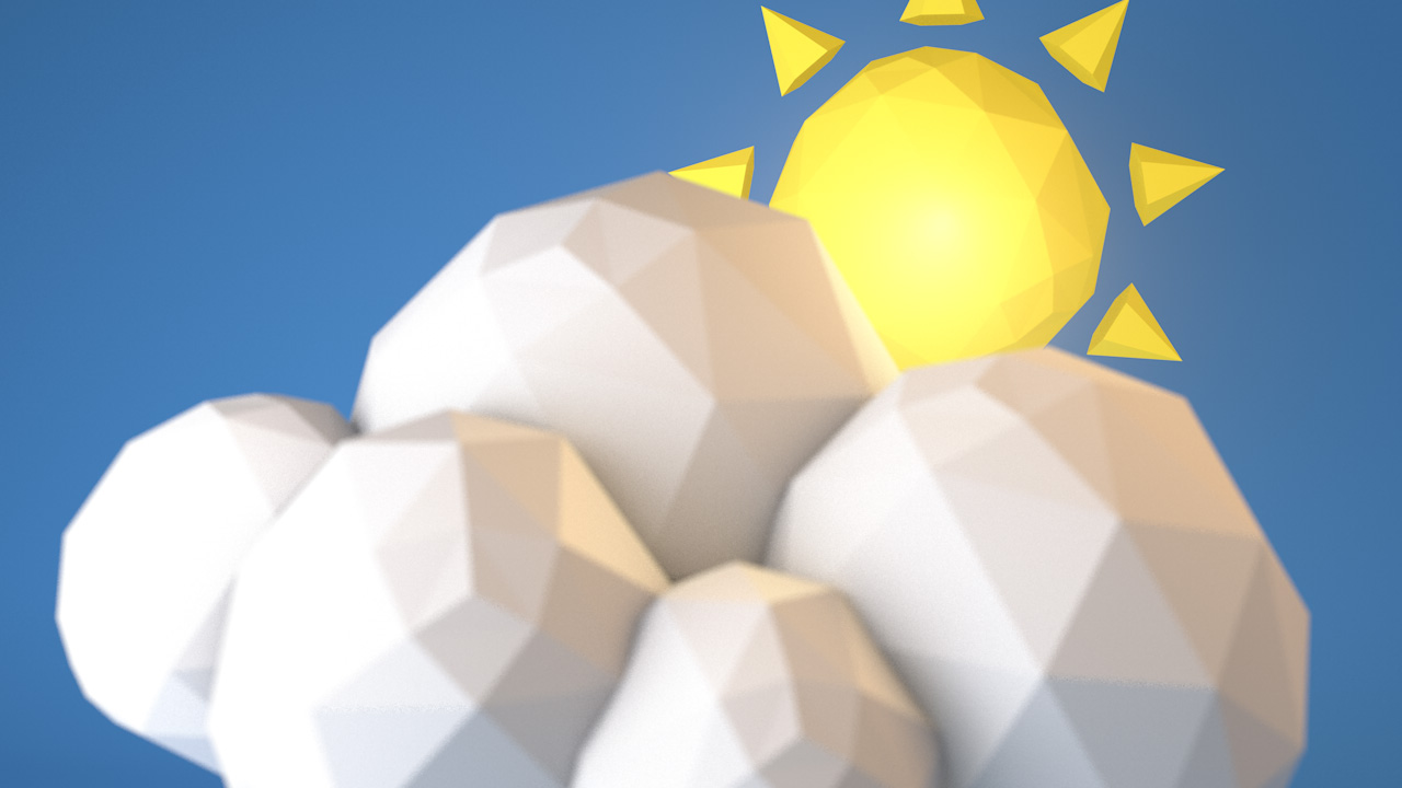 Low Poly Weather close up 4